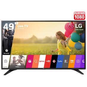 "Smart TV LED 49"" Full HD LG 49LH6000 com Sistema WebOS, Painel IPS,"