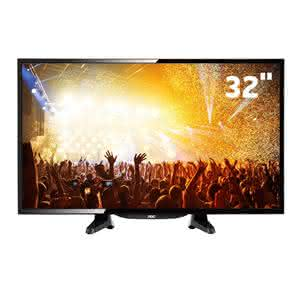 "TV LED 32"" HD AOC LE32H1461 com Conversor Digital Integrado,"