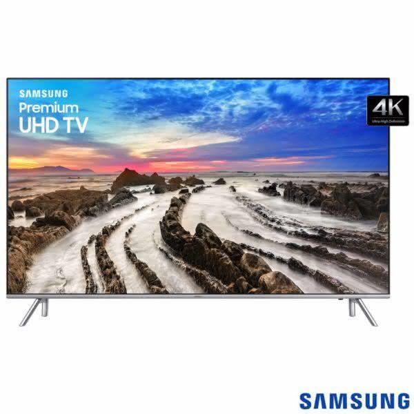 """Smart TV 4K LED 82MU7000 Samsung 82"""" com HDR1000, Plataforma Smart Tizen e Wi-Fi"""