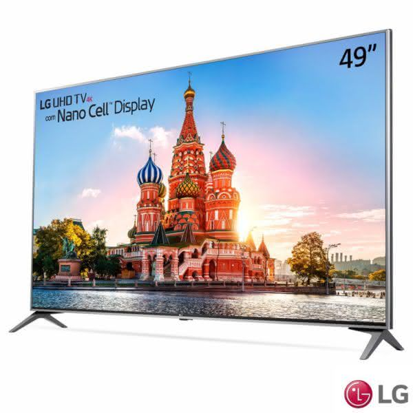 "Smart TV LED 49"" LG 49UJ7500 Ultra HD 4K Nano Cell Wi-Fi HDR Dolby Vision 2 USB 4 HDMI webOS 3.5 Som harman/kardon"