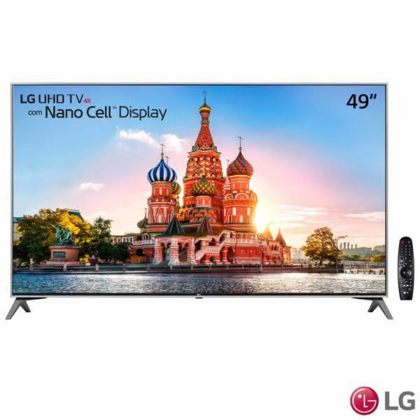 "Smart TV LED 49"" LG 49UJ7500 Ultra HD 4K Nano Cell Wi-Fi HDR Dolby Vision 2 USB 4 HDMI webOS 3.5 Som harman/kardon"