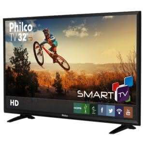 Smart TV LED 32'' Philco PH32E31DSGW HD com Conversor Digital 2 HDMI 1 USB Wi-Fi