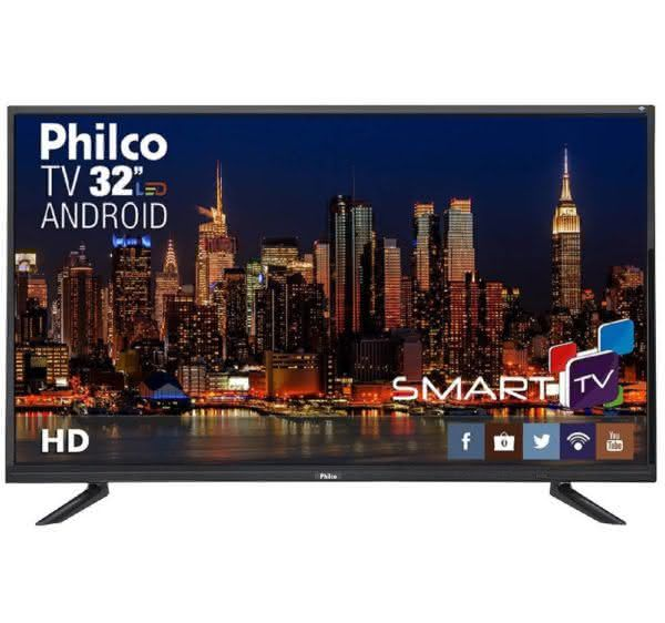 "Smart TV LED 32"" Philco PTV32E20DSGWA HD com Conversor Digital 2 HDMI 1 USB Wi-Fi Midiacast 60Hz"