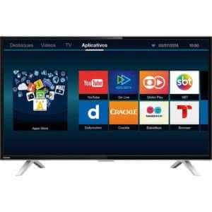 "Smart TV LED 32"" Toshiba 32L2600 HD com Conversor Digital 3 HDMI 2 USB Wi-Fi"