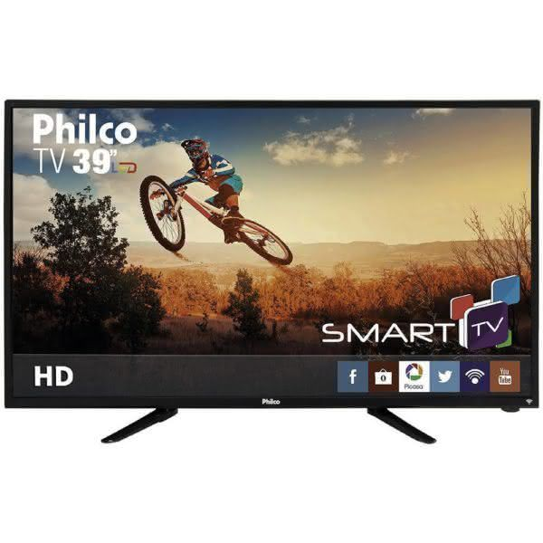 "Smart TV LED 39"" Philco PH39N86TSGWHD com Conversor Digital Closed Caption e Sleep timer"