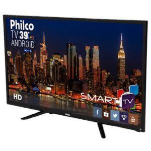 "Smart TV LED 39"" Philco PH39N91DSGWA HD com Conversor Digital 2 HDMI 2 USB Wi-Fi Android"