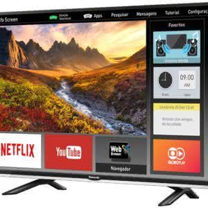 "Smart TV LED 40"" Full HD Panasonic VIERA TC-40DS600B com Wi-Fi, Bluetooth, Ultra Vivid, My Home Screen, Web Browser"