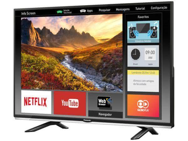 "Smart TV LED 40"" Full HD Panasonic VIERA TC-40DS600B com Wi-Fi, Bluetooth, Ultra Vivid, My Home Screen, Web Browser"
