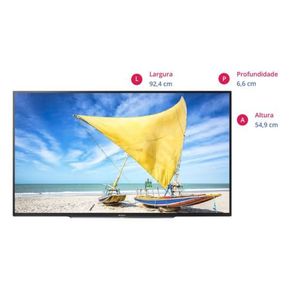 "Smart TV LED 40"" Full HD Sony KDL-40W655D Rádio FM X-Protection PRO, DLNA Miracast"