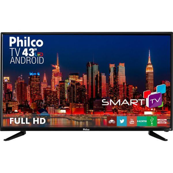 "Smart TV LED 43"" Philco Ph43n91dsgwa Full HD com Conversor DigitalFunção DNR"