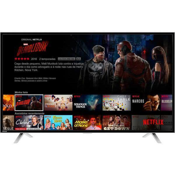 "Smart TV LED 49"" Toshiba 49L2600 FullHD com Conversor Digital Wi-Fi 3 HDMI 2 USB 60Hz"