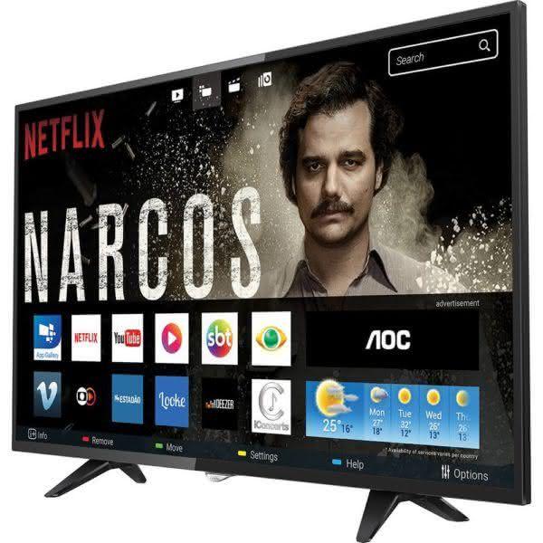 Smart TV LED 50'' AOC LE50S5970 Full Hd Com Conversor Digital