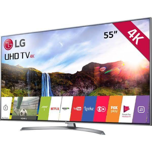 "Smart TV LED 55"" LG 55UJ7500 Ultra HD 4K Nano Cell Wi-Fi HDR Dolby Vision 2 USB 4 HDMI webOS 3.5 Som harman/kardon"