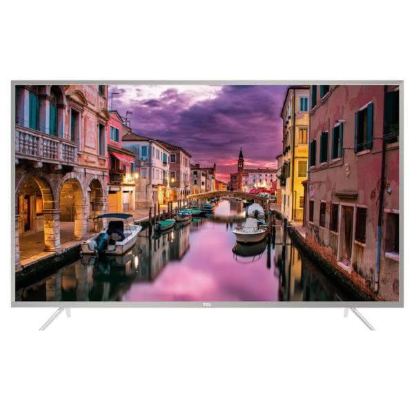 "Smart TV LED 55"" TCL 55P2US Ultra HD 3 HDMI 2 USB Prata com Conversor Digital Integrado"