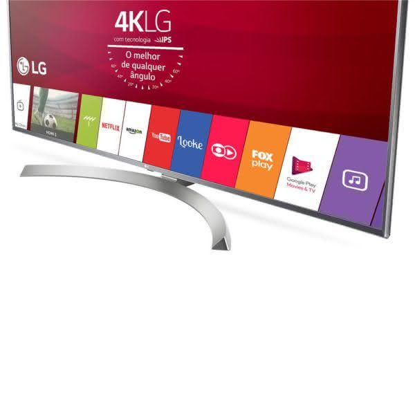 "Smart TV LED 60"" UHD 4K LG 60UJ6585 com Sistema WebOS 3.5, Wi-Fi, Painel IPS, HDR, Local Dimming, Magic Mobile Connection, HDMI e USB"