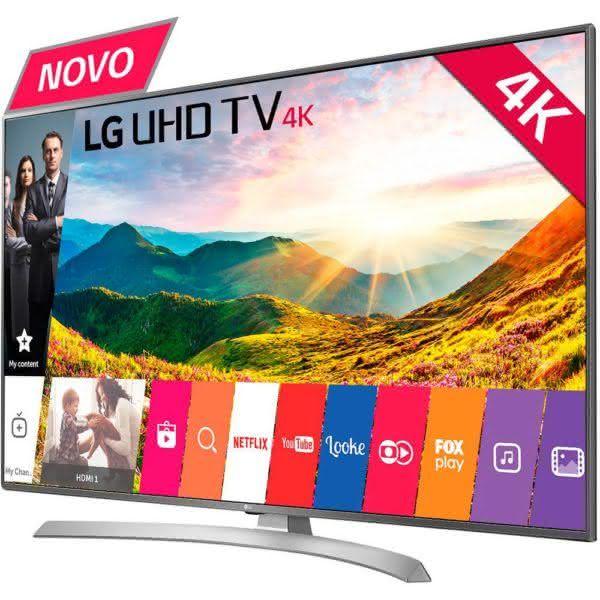 Smart TV LED 65 LG 65UJ6545 Ultra HD 4k Conversor Digital Wi-Fi 4 HDMI 2 USB Webos 3.5 Magic Mobile Connection