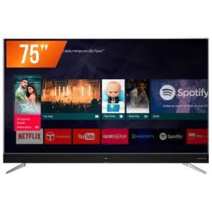 Smart TV LED 75'' Ultra HD 4k TCL 75C2US HDMI USB Android TV WiFi Integrado Conversor Digital