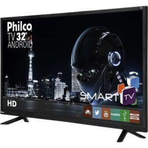 "Smart TV LED Android 32"" Philco Ph32e60dsgwa HD Conversor Digital 2 HDMI 2 USB"