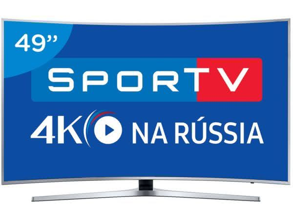 """Smart TV LED Curva 49"""" Samsung 4K Ultra HD - KU6500 Conversor Digital Wi-Fi 3 HDMI 2 USB"""