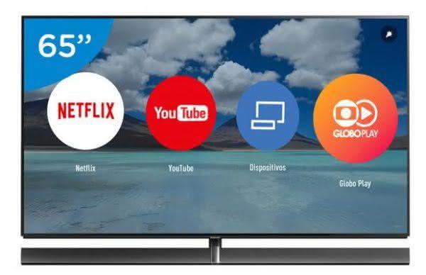 "Smart TV OLED 65"" Panasonic 4K/Ultra HD TC-65EZ100 - Conversor Digital 3 USB 4 HDMI"