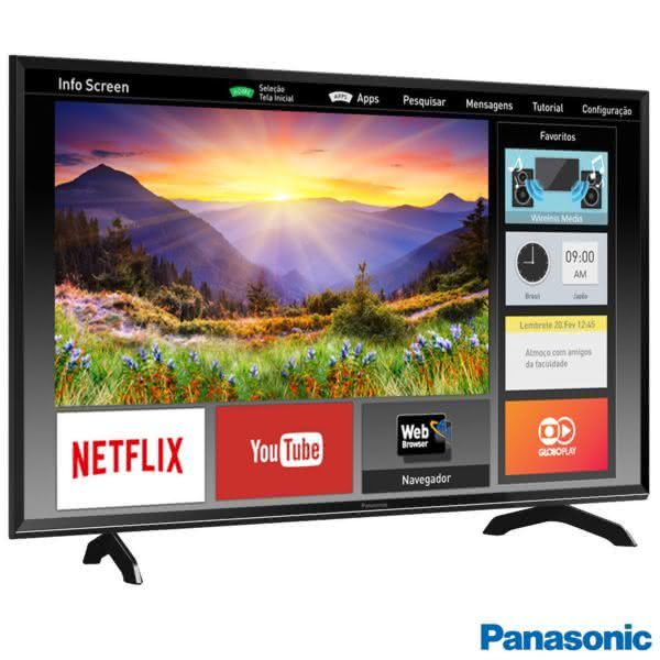 Smart TV Panasonic 40'' com my Ultra Vivid, my Home Screen, Wireless Media e Wi-Fi - TC-40ES600B