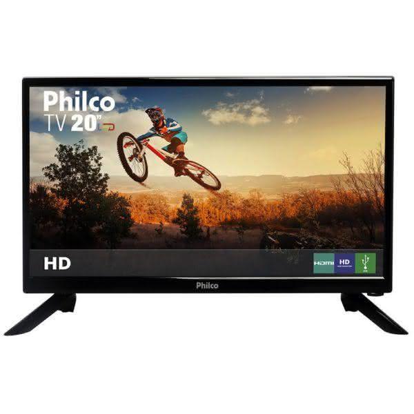 "TV LED 20"" Philco PH20N91D HD com Conversor Digital 1 HDMI 1 USB 60Hz"