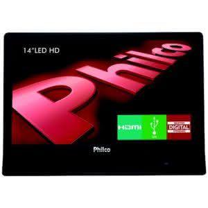 "TV LED 14"" Hd Ph14e10d Hdmi Conversor Digital - Philco"