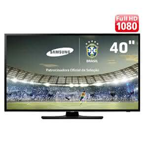 "TV LED 40"" Full HD Samsung UN40H5100 com Conversor Digital, Função Futebol, ConnectShare Movie,"