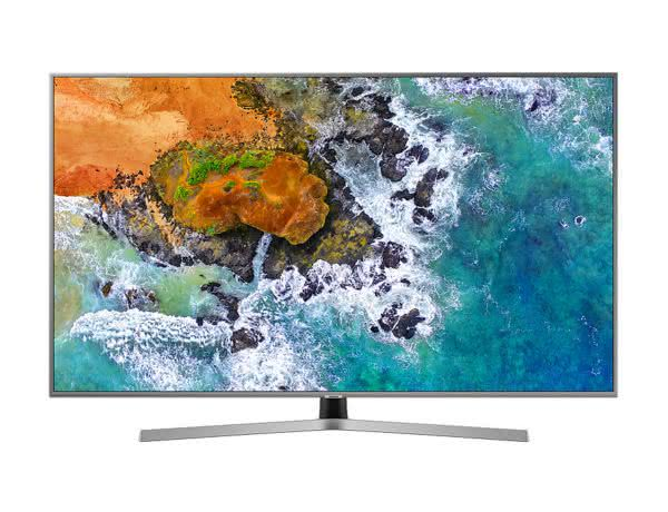 "Smart TV Samsung 65NU7400 65"" 4K UHD, Controle Remoto Único, SmartThings Bixby, Livre de Cabos, HDR Premium, Smart Tizen"