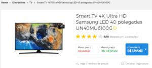 Onde comprar Smart TV 4k UHD na Black Friday 2019 1