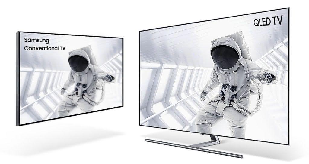 "Smart TV Tela Curva QLED 65"" UHD 4K Samsung 65Q8CN Smart Tizen, Bixby, Modo Ambiente, Tela de Pontos Quânticos, HDR 1500 1"