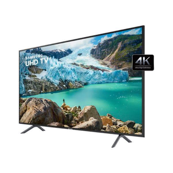 """Smart TV Samsung 4K UHD 55RU7100 com tela LED de 55"""" HDR, Controle Remoto Único"""