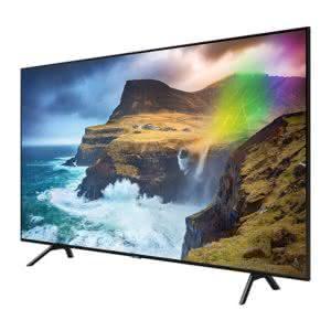 """Smart TV Samsung 4K UHD 55Q70R com tela QLED de 55"""" HDR, Woofer, Controle Remoto Único, Bixby, Modo Ambiente"""