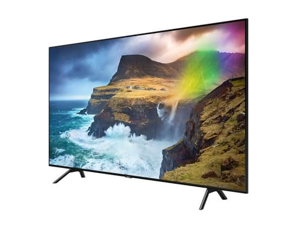 """Smart TV Samsung 4K UHD 75Q70R com tela QLED de 75"""" HDR, Woofer, Controle Remoto Único, Bixby, Modo Ambiente"""