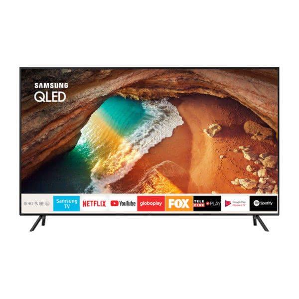 """Smart TV Samsung 4K UHD 55Q60R com tela QLED de 55"""" HDR, Controle Remoto Único, Bixby, Modo Ambiente"""