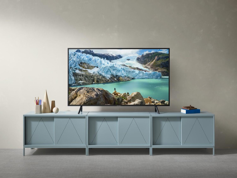 """Smart TV Samsung 4K UHD 55RU7100 com tela LED de 55"""" HDR, Controle Remoto Único 1"""
