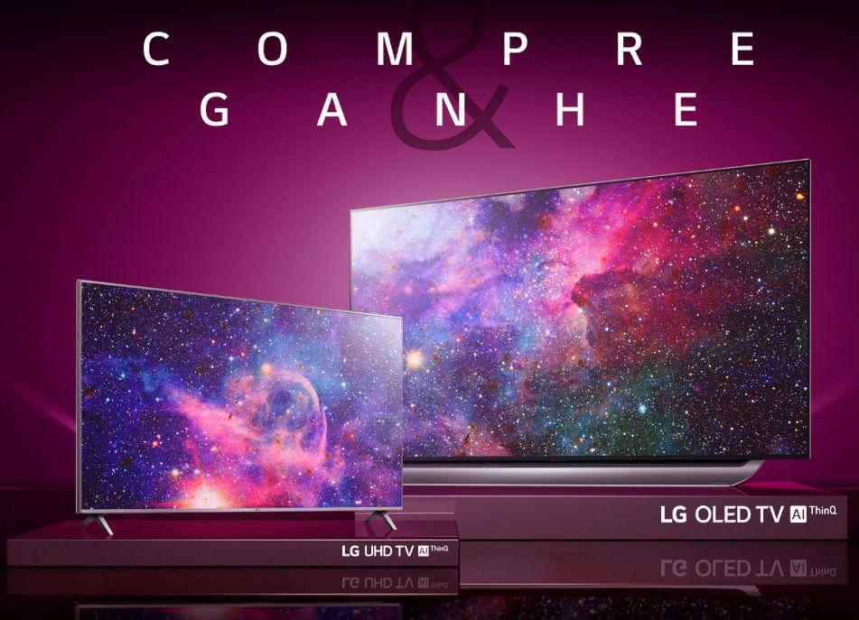 Compre TV LG OLED e ganhe uma LG 4K UHD 6