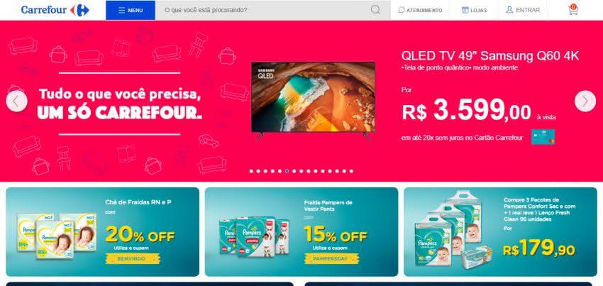 Como comprar TV no Carrefour