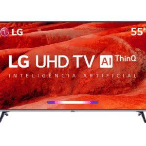 Smart TV LED LG 65UM7520 65'' 4K UHD Google Assistente, HDR Ativo, ThinQAI